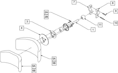 Curved Headrest parts diagram