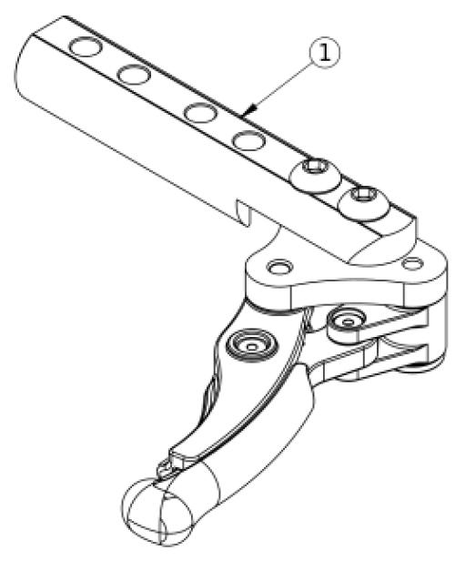 Low Profile Scissor Lock parts diagram