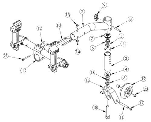Standard 5th Wheel parts diagram