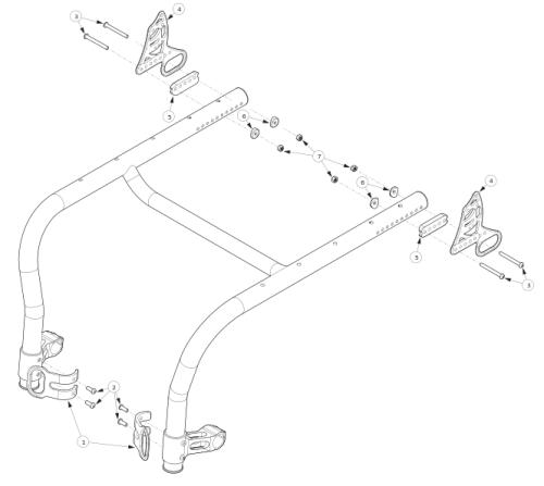Rogue Style Transit Backrest Option On Tsunami parts diagram
