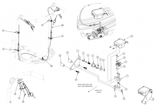 (discontinued 2) Focus Cr Dual Hand Tilt Mechanism Fixed Height With Adjustable Handle Back parts diagram
