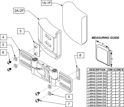Swing-away Hardware parts diagram