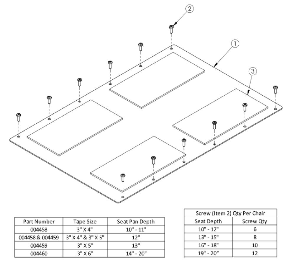 Rogue Xp Aluminum Seat Pan parts diagram