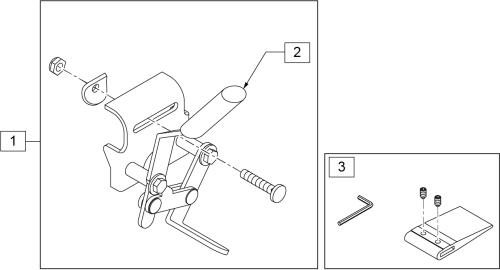 Wheel Lock Removable Armrest (2000, 3000) parts diagram