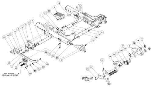Discontinued Focus Cr Attendant Foot Lock parts diagram