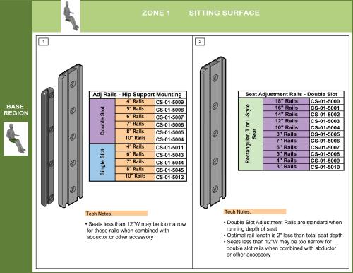 Cs-01-seat Step 5 - Select Adjustment Rails parts diagram