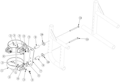 Catalyst O2 Holder parts diagram