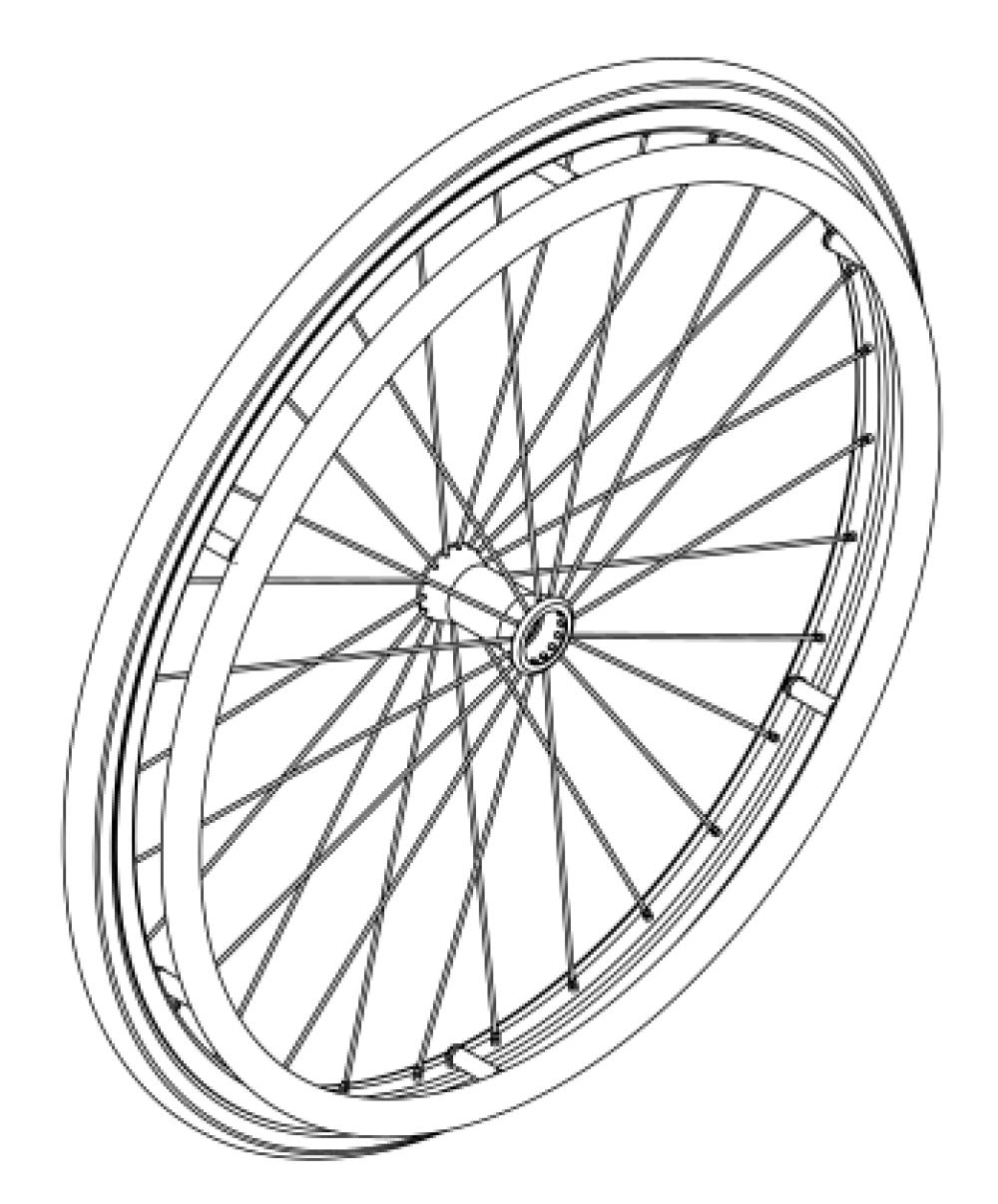 (discontinued) Little Wave Spoke Wheel / Tire / Handrim Kits parts diagram
