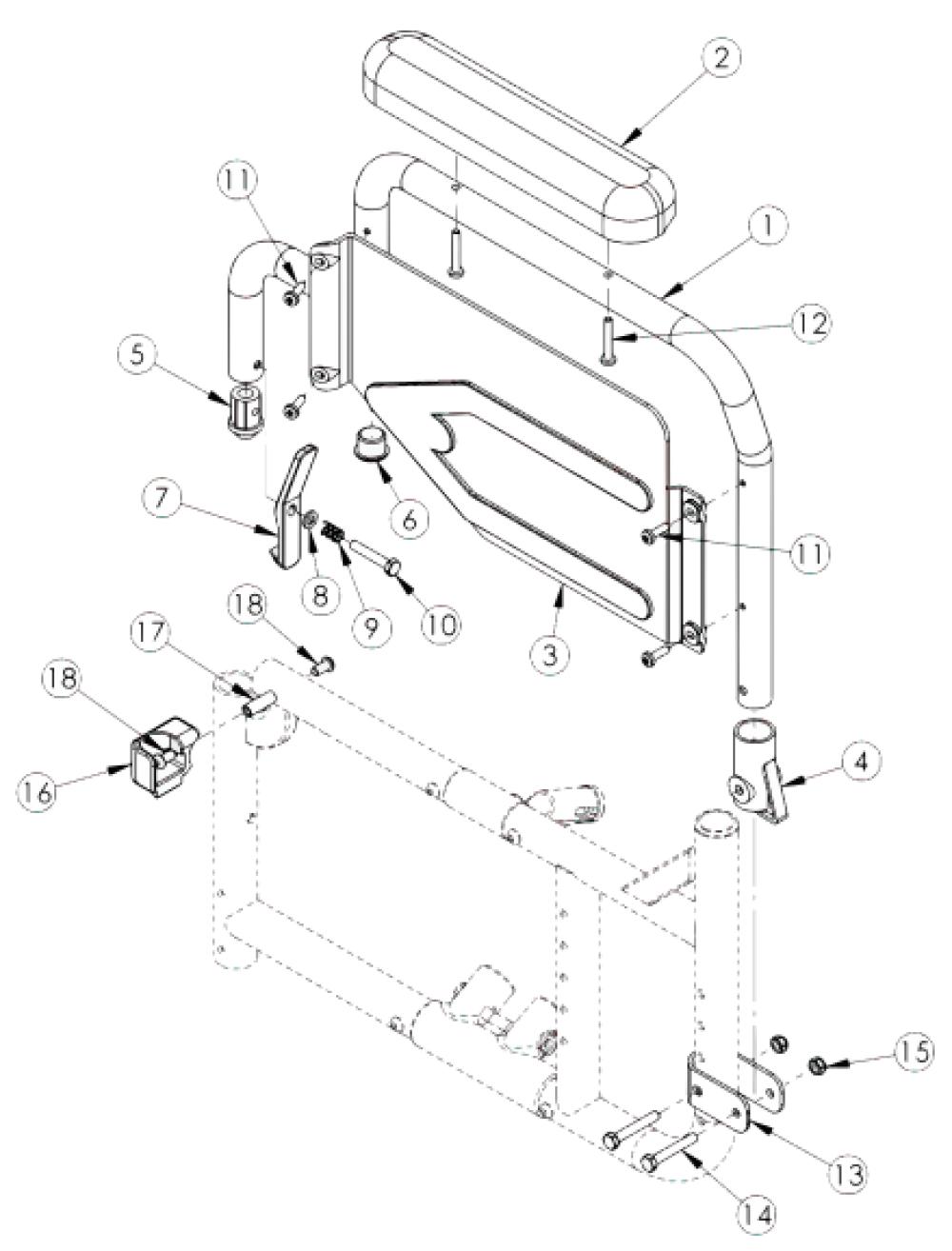 Catalyst Flip Back Armrest parts diagram