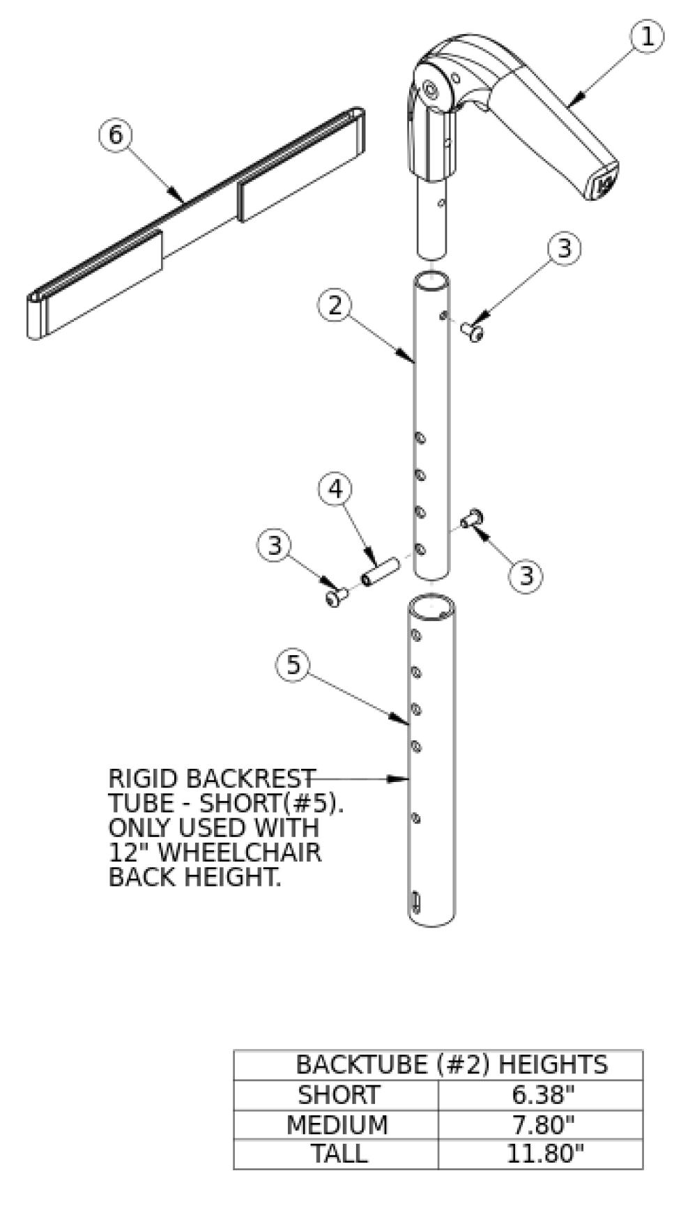 (discontinued) Rogue Fold Down Push Handle parts diagram