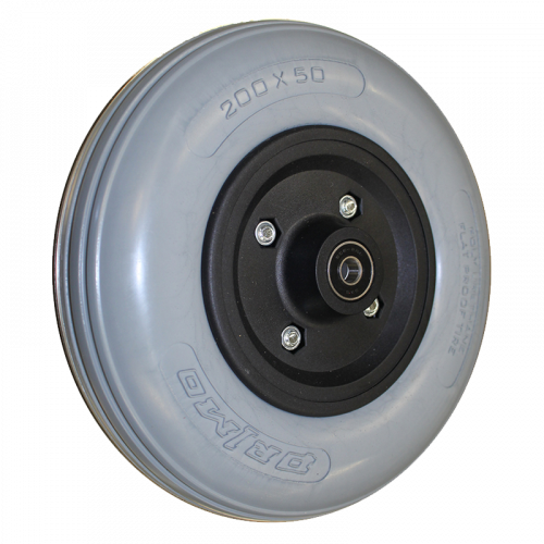 8 x 2 in. Black Caster Wheel, Poly Tire