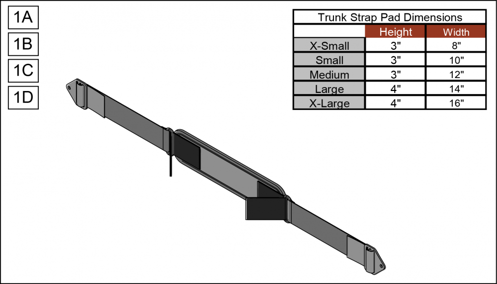 Trunk Strap Pad parts diagram