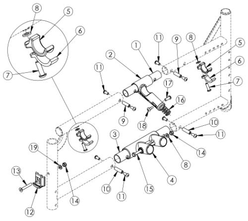 Catalyst 5vx Side Frame Assembly parts diagram