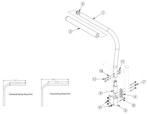 Catalyst Swing Away Armrest parts diagram