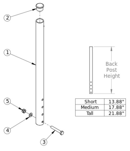 Catalyst Straight Backrest parts diagram