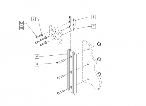 Hardware Mounting Channel -back parts diagram