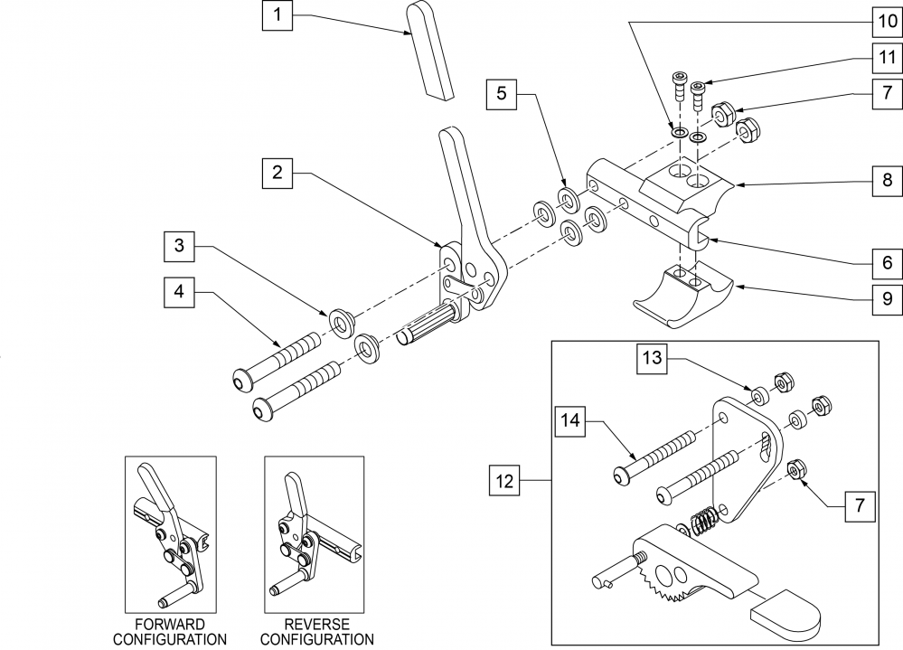 Wheel Lock Push To Lock (quickie Style) parts diagram