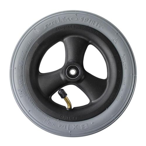 8 x 1-1/4 in. Pneumatic 3 Spoke Caster Wheel Complete
