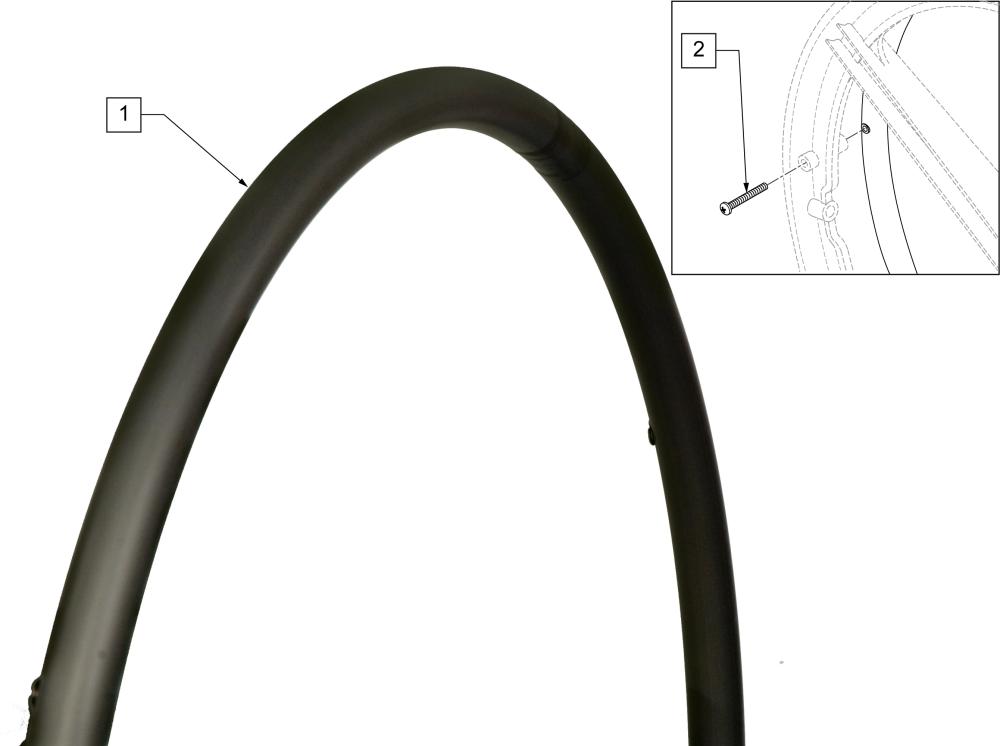 Painted (screw Mount) parts diagram