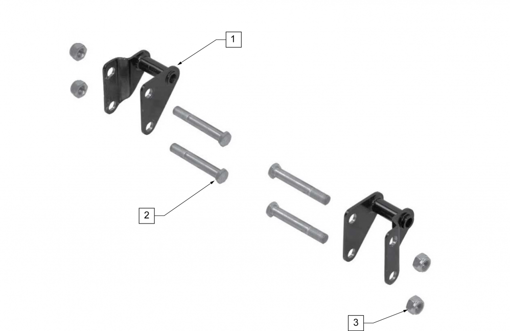 Offset Amputee Axle Plate parts diagram