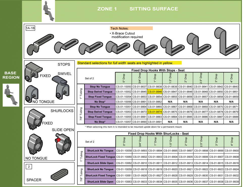 Cs-01-seat Step 6 - Select Attachment Hardware Front (6of7) parts diagram