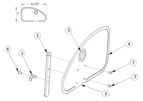 Aluminum Straight Side Guard parts diagram