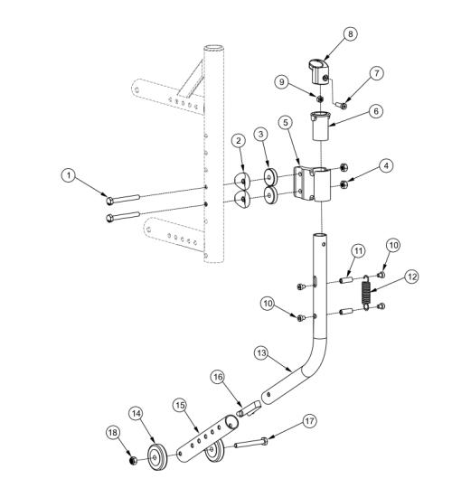 Catalyst 5vx Swing-in Anti-tip parts diagram