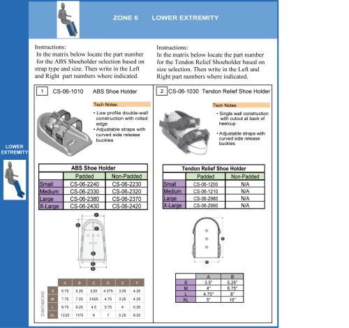 Shoe Holders parts diagram
