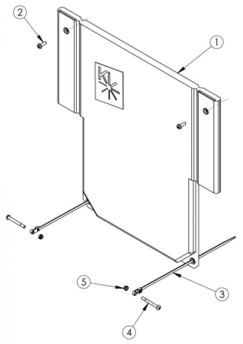 Catalyst Standard Back Upholstery parts diagram