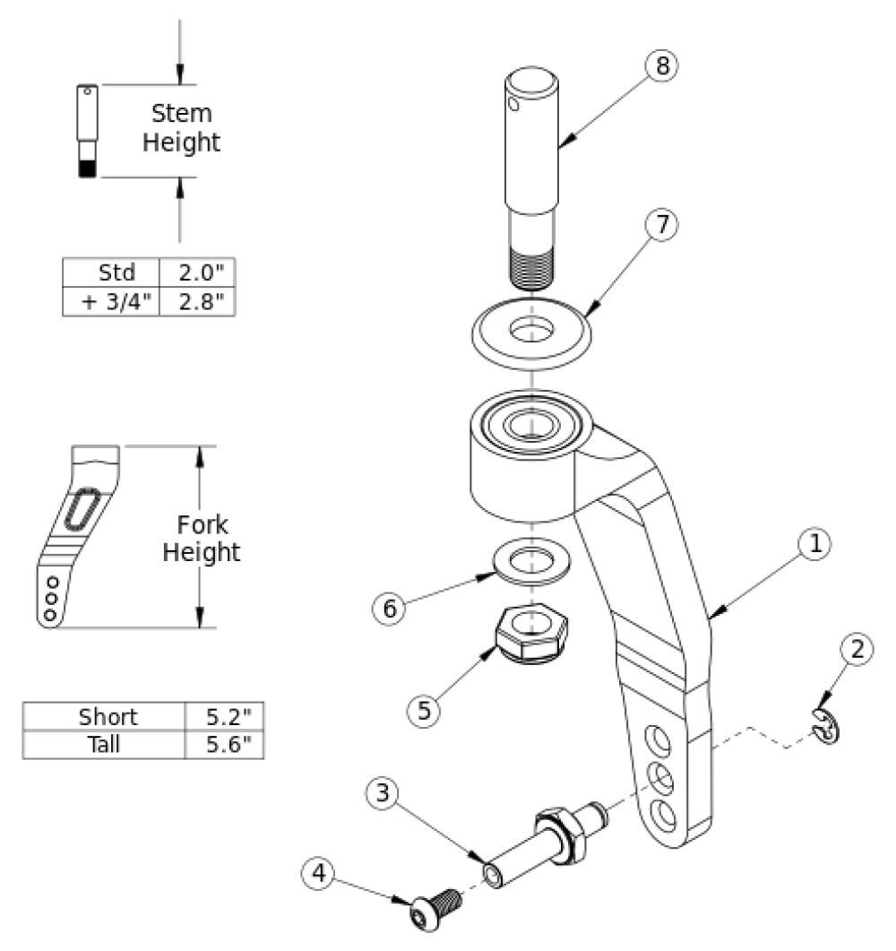 Rogue / Clik Single Sided Fork parts diagram