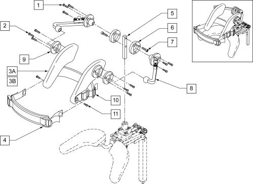 4-pad Rotational Headstrap Assm parts diagram
