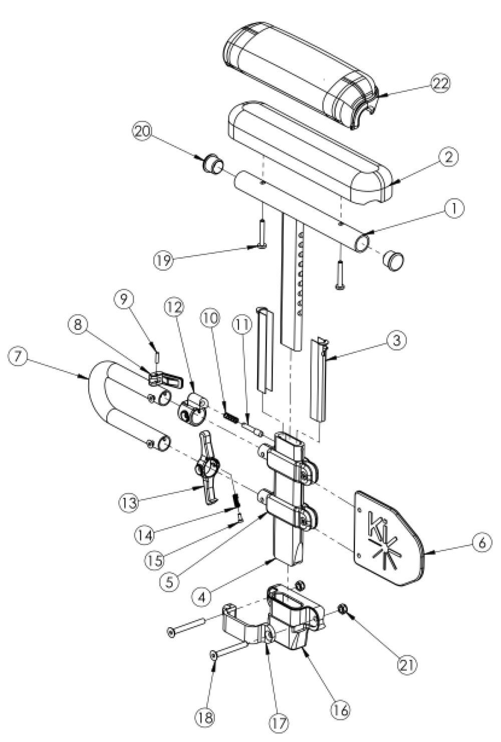 Rogue / Rogue Xp Height Adjustable Low T-arm parts diagram