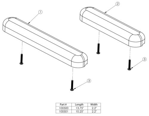 Standard Arm Pad parts diagram