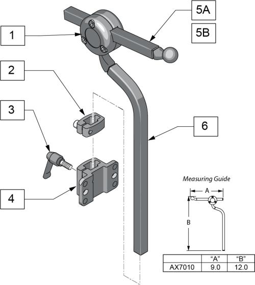 Axys Headrest parts diagram