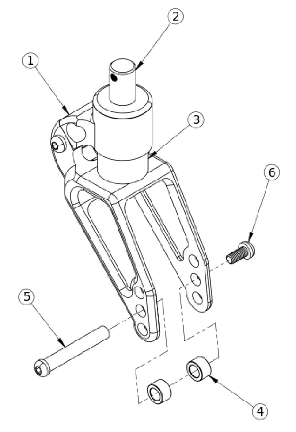 Rogue / Clik / Ethos Frog Legs Suspension Fork (ultra-sport Fork) parts diagram