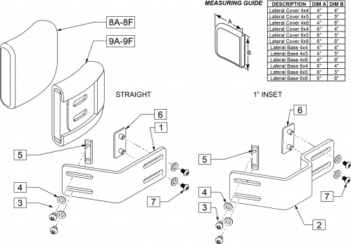 Fixed Lateral Brackets (external Mount) parts diagram