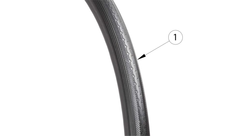 Rogue Xp Full Poly Tire parts diagram