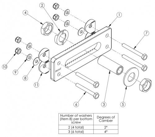(discontinued) Catalyst 5 Standard Axle Plate parts diagram
