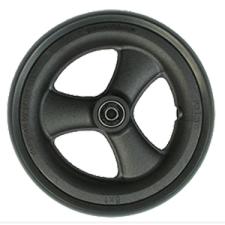 7 X 1in. Primo 3-Spoke Low Profile Black Caster Wheel