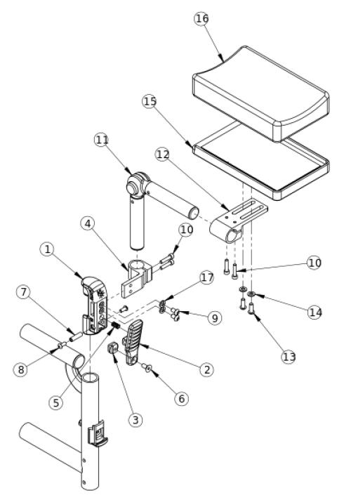 Residual Limb Support parts diagram