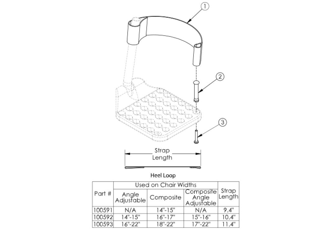 Liberty Ft Heel Loops parts diagram