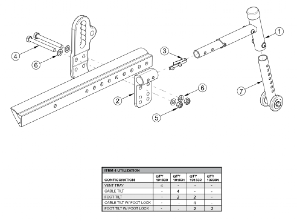 Focus Cr Rear Anti-tip parts diagram