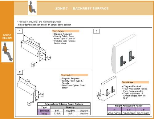 Cs-07-back Step 5 Select Lumbar Support parts diagram