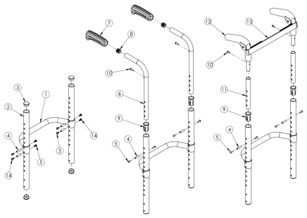 Clik / Rogue Xp Fixed Height Back Post parts diagram