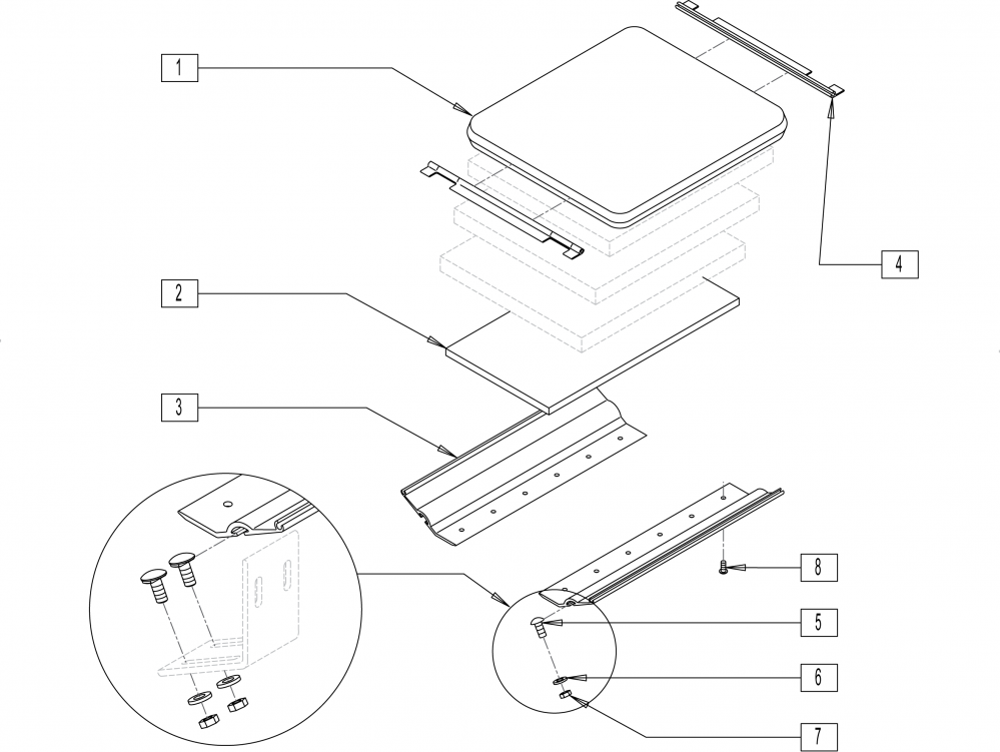 Jay Fit Planar Seat Base parts diagram