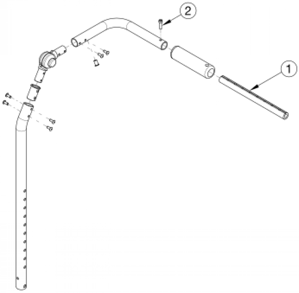 Focus Cr Fixed Height With Adjustable Handle Backrest - Growth parts diagram