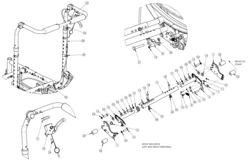 (discontinued 1) Focus Cr Dual Hand Tilt Mechanism Height Adjustable Back parts diagram