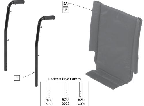 Backrest parts diagram