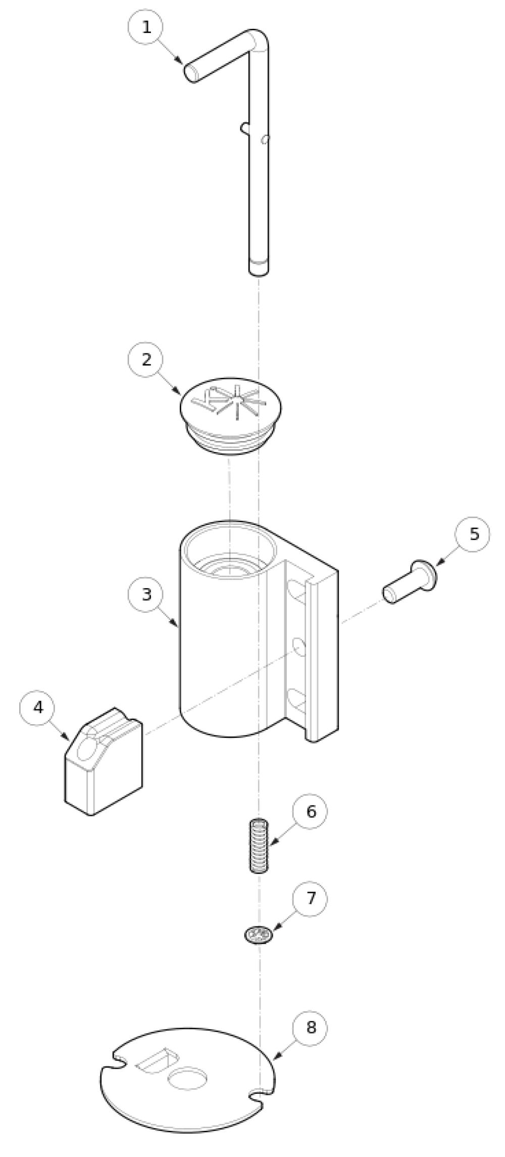 Catalyst Caster Pin Locks parts diagram