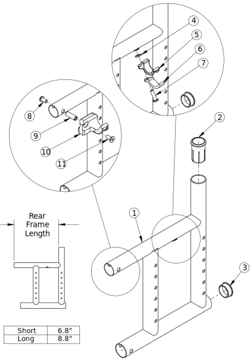 Catalyst 5ti Rear Frame parts diagram